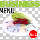 Business Menu No.1 on Transparent Backgrounds - GraphicRiver Item for Sale