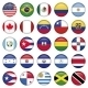American Flags Round Buttons - GraphicRiver Item for Sale