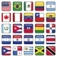 American Flags squared Icons - GraphicRiver Item for Sale