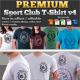 Premium Sport Club T-Shirt V4 Template  - GraphicRiver Item for Sale