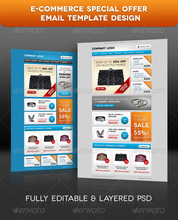 GraphicRiver E-commerce Special Offer Email Template Design 491579