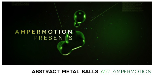 After Effects Project - VideoHive Abstract Metal Balls 491813