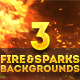 3 Fire and Sparks Backgrounds - GraphicRiver Item for Sale