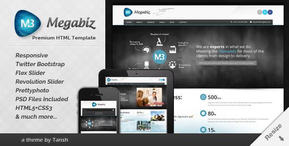 Megabiz Responsive HTML/CSS Template (Business) images