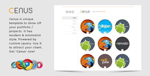 ThemeForest - Cenus - Modern Minimalist Website Template - RiP