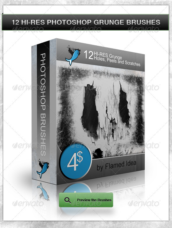 GraphicRiver 12 Hi-Res Grunge Holes Peels and Scratches 442456