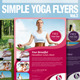 Simple Yoga Flyer Vol.3 - GraphicRiver Item for Sale