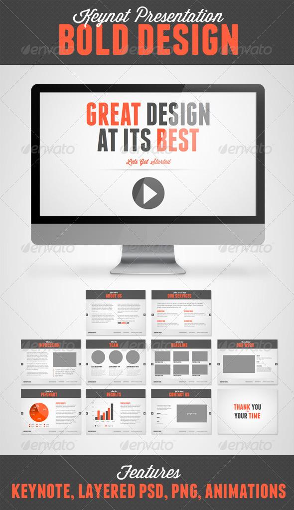 GraphicRiver Bold Design Keynote 4719437