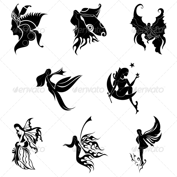 Stock Vector Graphicriver Tribal Angel Abstract Designs
