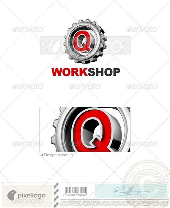 Logo - 3D-292-Q ...Q Logo 3d