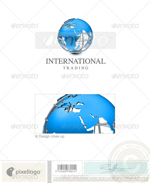 GraphicRiver Communications Logo 3D-422 496540