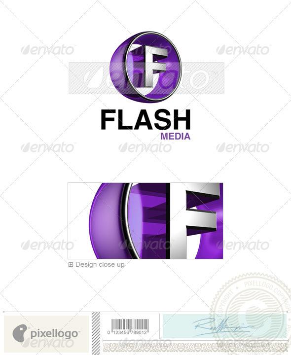 GraphicRiver F Logo 3D-438-F 496544