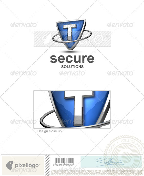 GraphicRiver T Logo 3D-285-T 496549