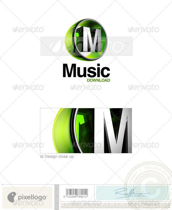 GraphicRiver M Logo 3D-438-M 496555