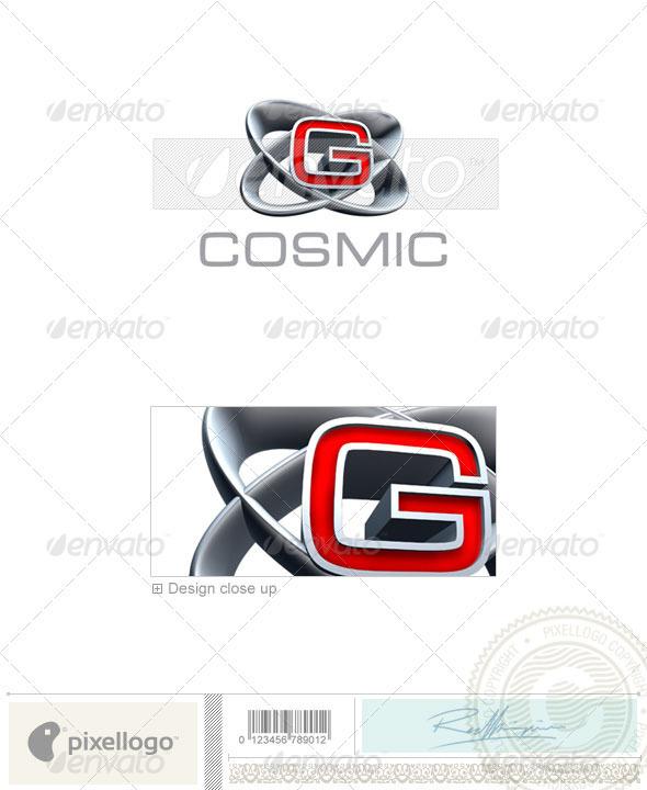 GraphicRiver G Logo 3D-348-G 496574
