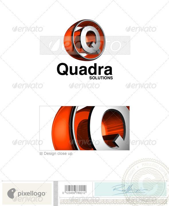 GraphicRiver Q Logo 3D-438-Q 496624