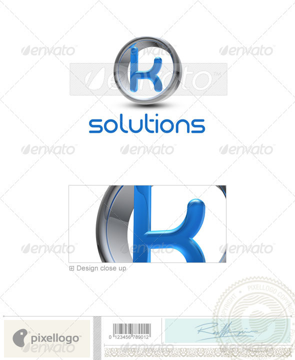 GraphicRiver K Logo 3D-288-K 496650