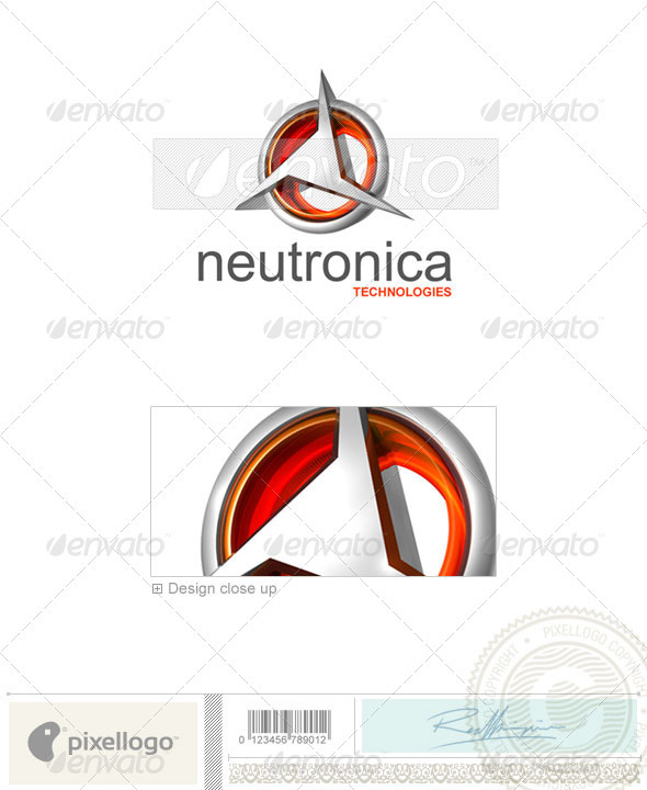GraphicRiver Technology Logo 3D-349 496678