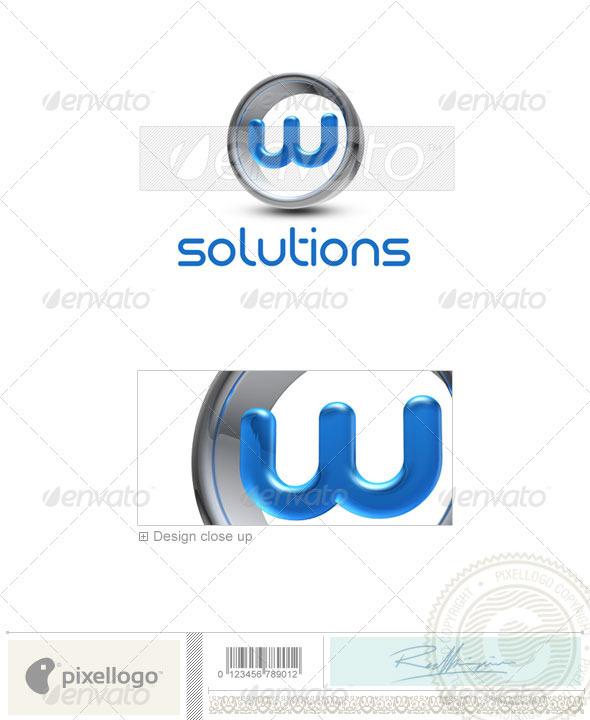 GraphicRiver W Logo 3D-288-W 496683