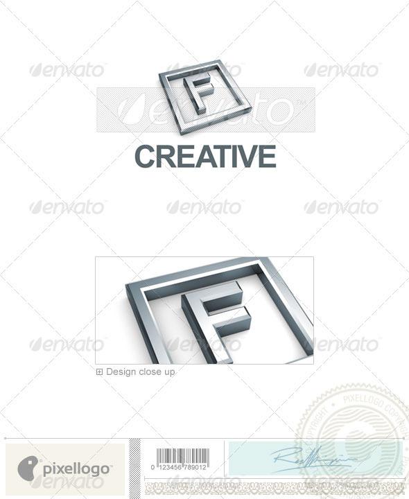 GraphicRiver F Logo 3D-295-F 496738