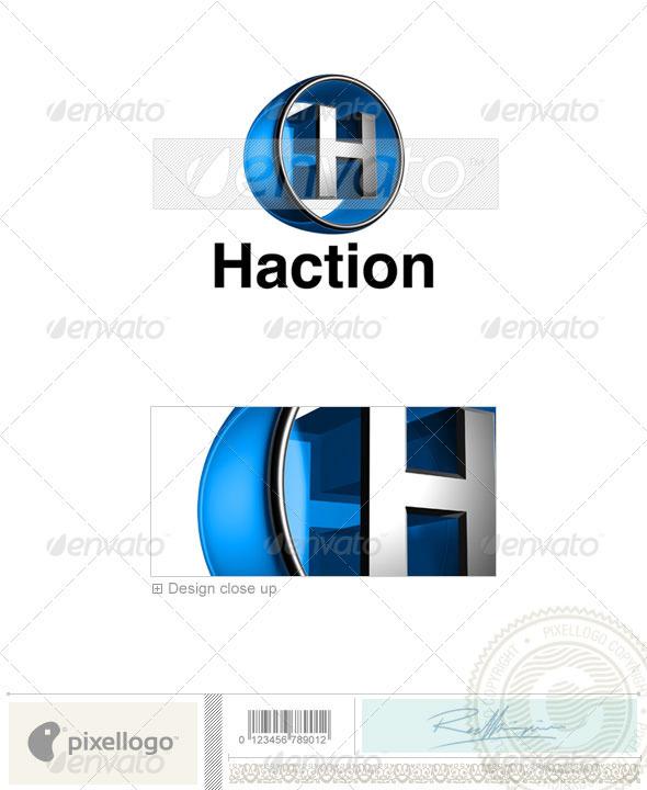 GraphicRiver H Logo 3D-438-H 496762