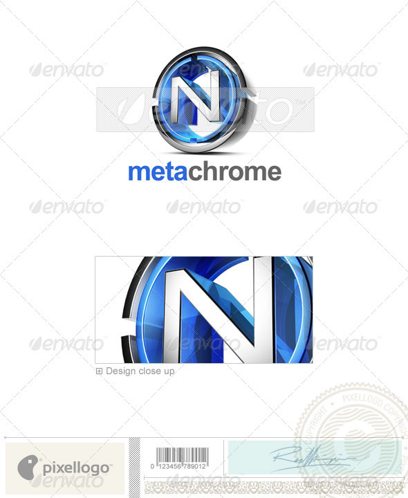 GraphicRiver N Logo 3D-476-N 496935