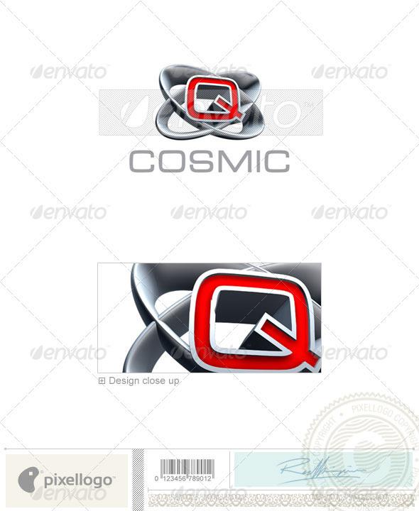 GraphicRiver Q Logo 3D-348-Q 496941