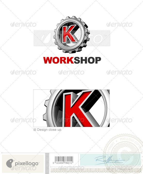 Logo - 3D-292-K ...K Logo 3d