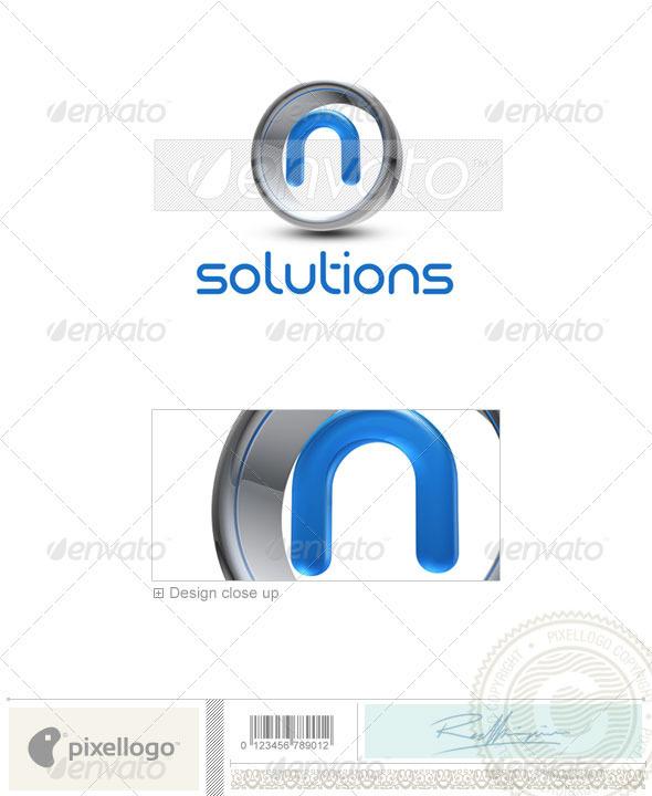 GraphicRiver N Logo 3D-288-N 496998
