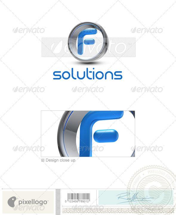 GraphicRiver F Logo 3D-288-F 497161