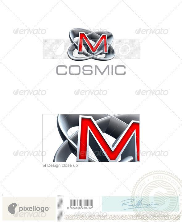 GraphicRiver M Logo 3D-348-M 497235