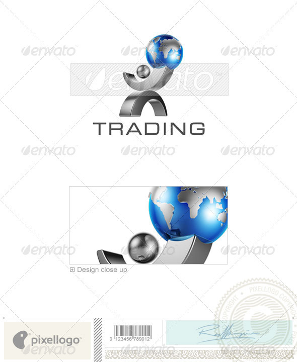 GraphicRiver Business & Finance Logo 3D-406 497255