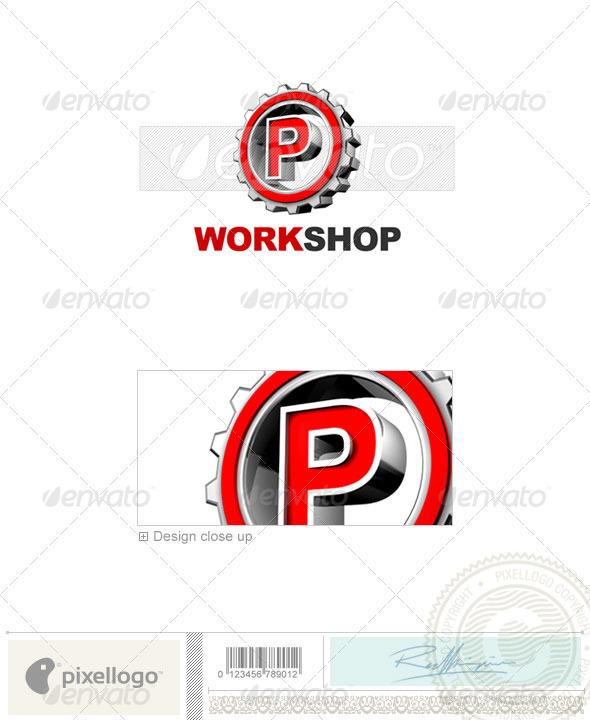 GraphicRiver P Logo 3D-292-P 497265
