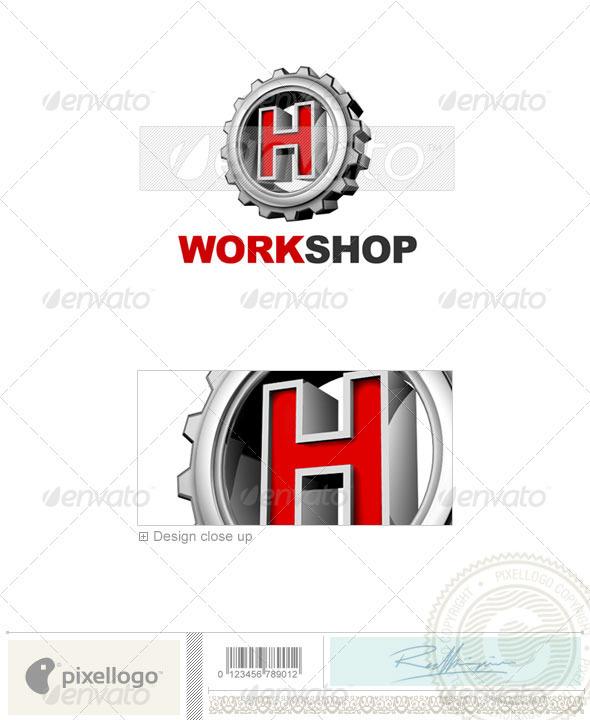 Logo - 3D-292-H ...H Logo 3d
