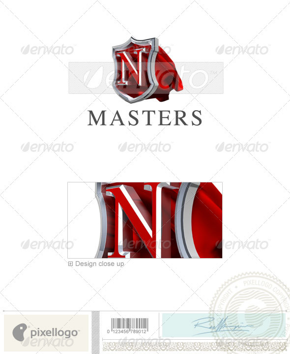 GraphicRiver N Logo 3D-259-N 497373