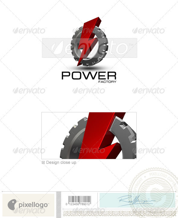 GraphicRiver Industry & Science Logo 3D-213 497428