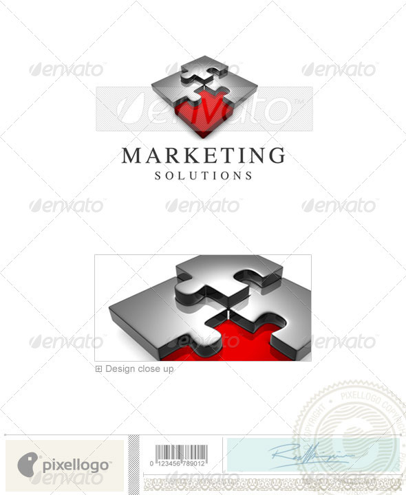 GraphicRiver Business & Finance Logo 3D-633 497466