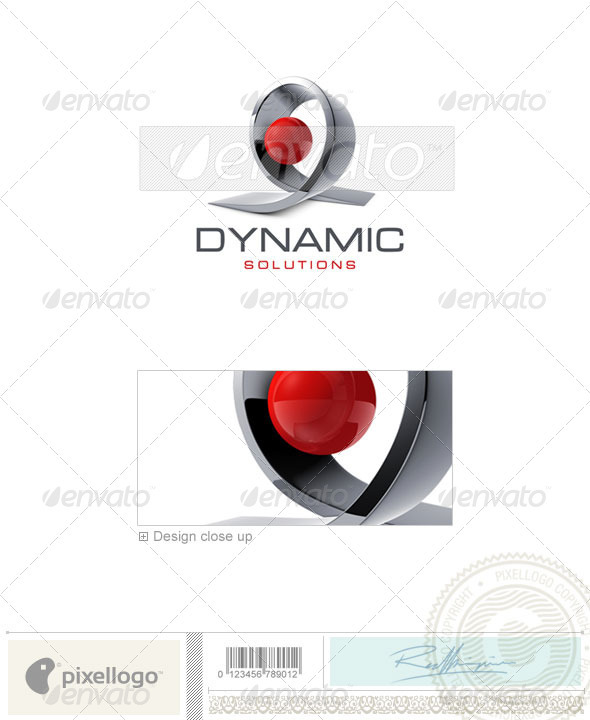 GraphicRiver Technology Logo 3D-464 497494
