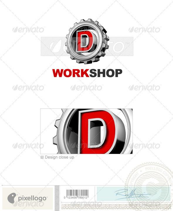 GraphicRiver D Logo 3D-292-D 497501