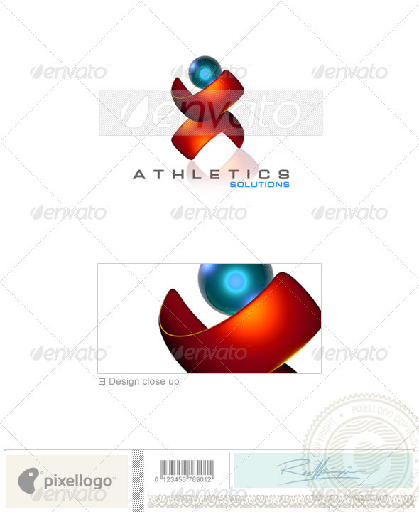 GraphicRiver Activities & Leisure Logo 3D-99 497534