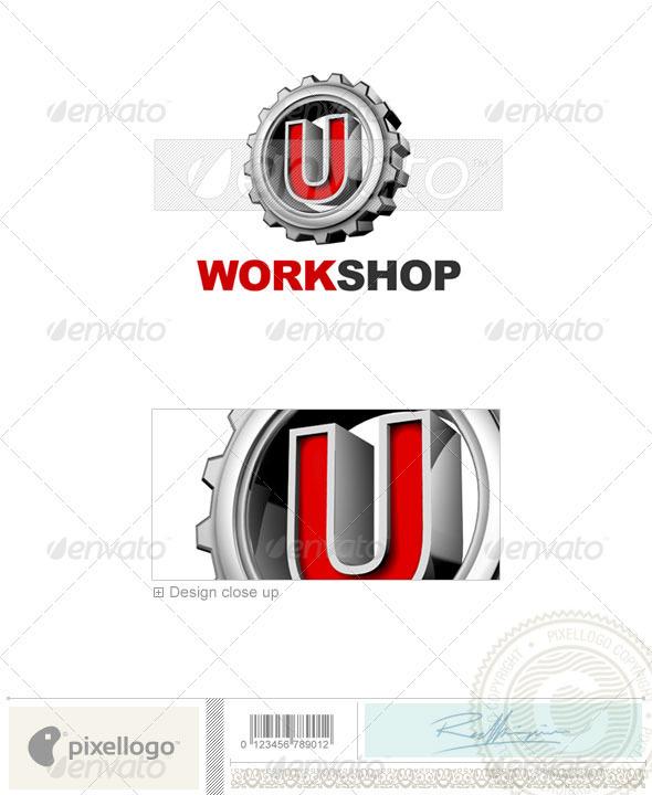 GraphicRiver U Logo 3D-292-U 497573