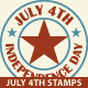 Independence Day Stamps - GraphicRiver Item for Sale