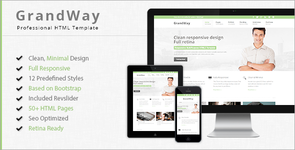 GrandWay – Responsive HTML5/CSS3 Template (Business) images
