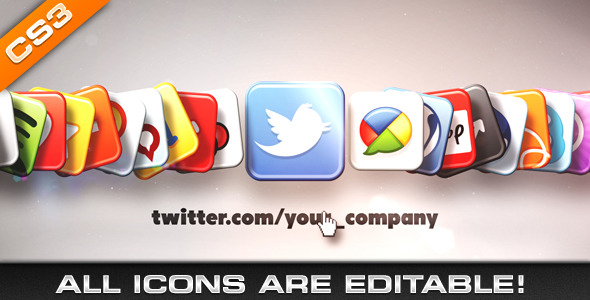 After Effects Project - VideoHive Media & Social Networks Icons 498795