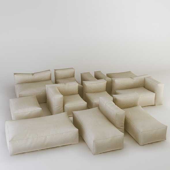 3DOcean Bonaldo Peanut B 3D Models -  Furnishings  Seating 499038