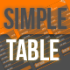 Simple Table - GraphicRiver Item for Sale