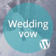 Wedding vow - Responsive WordPress Theme - ThemeForest Item for Sale