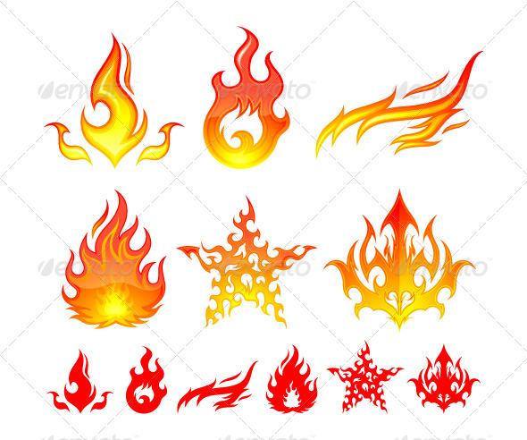 GraphicRiver Fire Elements 499193