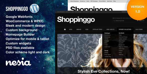 Shoppinggo – WordPress eCommerce Theme (eCommerce) images