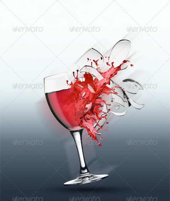 GraphicRiver Broken Wine Glass 4725429